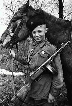 Deti Partizany Vojna Boevye Loshadi Istoricheskie Fotografii