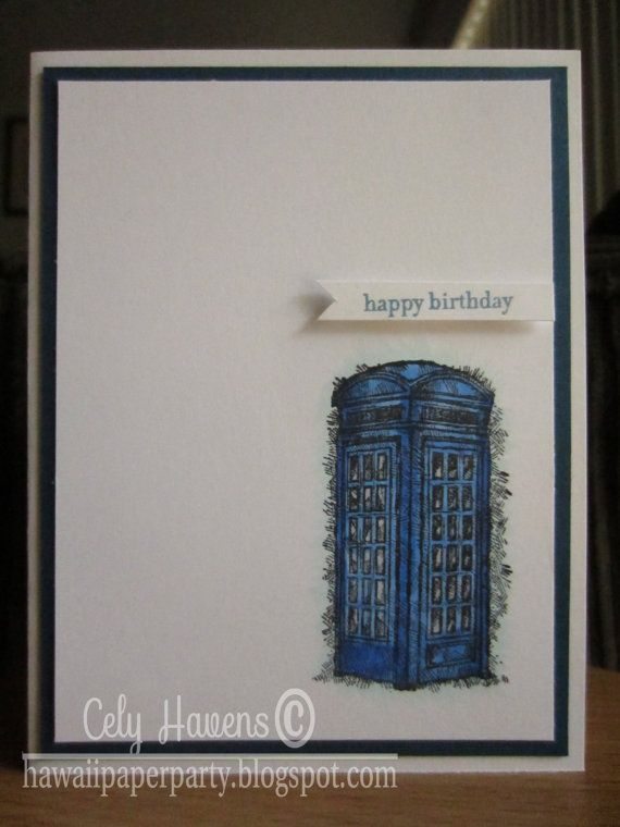 TARDIS Birthday Card Dr Who Dr Whovians by HawaiiPaperParty – Dr Who Birthday Card