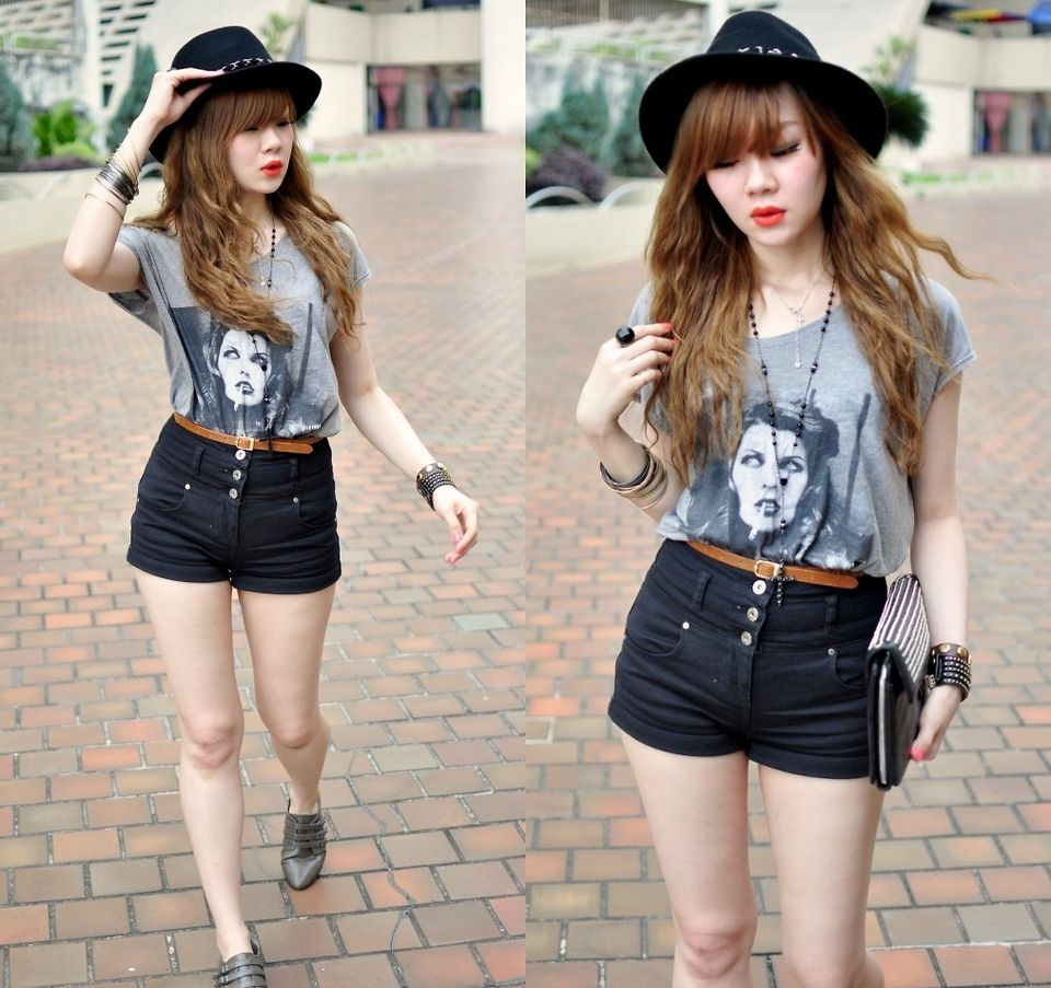 Fashion style Waisted High shorts outfits tumblr for girls