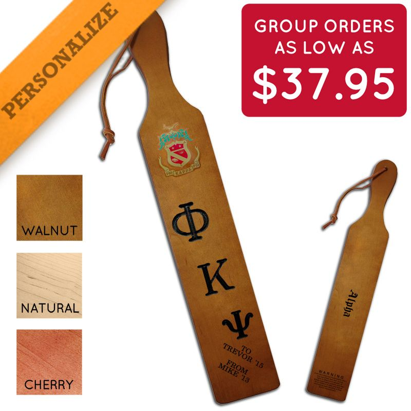 Phi Psi Personalized Traditional Paddle