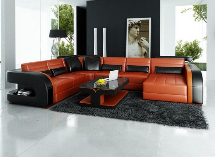 Umbra U Leather Lounge Challenges Conventional Designs With Its Bold Curved Features And Rich Tone Leather Colour Contrast Mak Leather Sofa Sofa Sofa Home