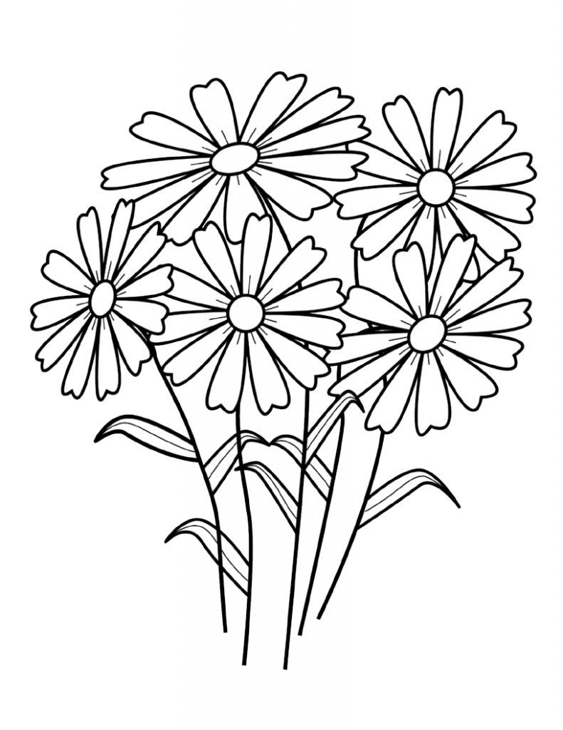 outline pictures flowers coloring pages for kids | Free Printable Flower Coloring Pages For Kids | Coloring Pages | Printable flower coloring pages ...