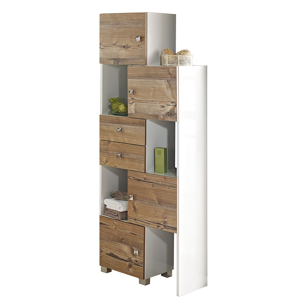 Etagere Montreal 5 Rangements Home24 Fr In 2020 Tall Cabinet Storage Vintage Bathroom Sliding Shelves