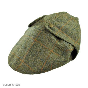 0868922e48 Hills Hats of New Zealand Overcheck Ivy Cap with Earflaps (Green ...
