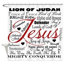 The Name Of Jesus Shower Curtain For