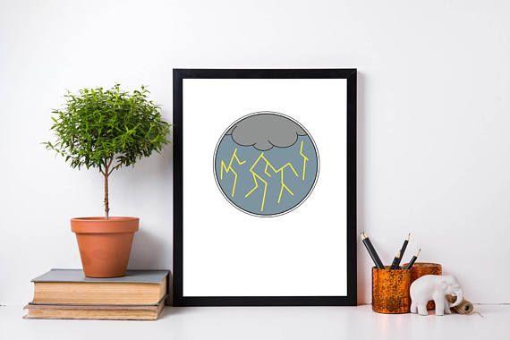 Lightning Wall Art Lightning Print Minimalist Weather Print Weather Wall Art Contemporary Art Coupon Code P Wall Art Prints Weather Print Wall Art