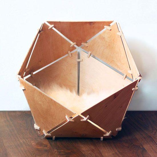 Modern Cat House catissa geobed – wooden geometric cat houseilshat garipov