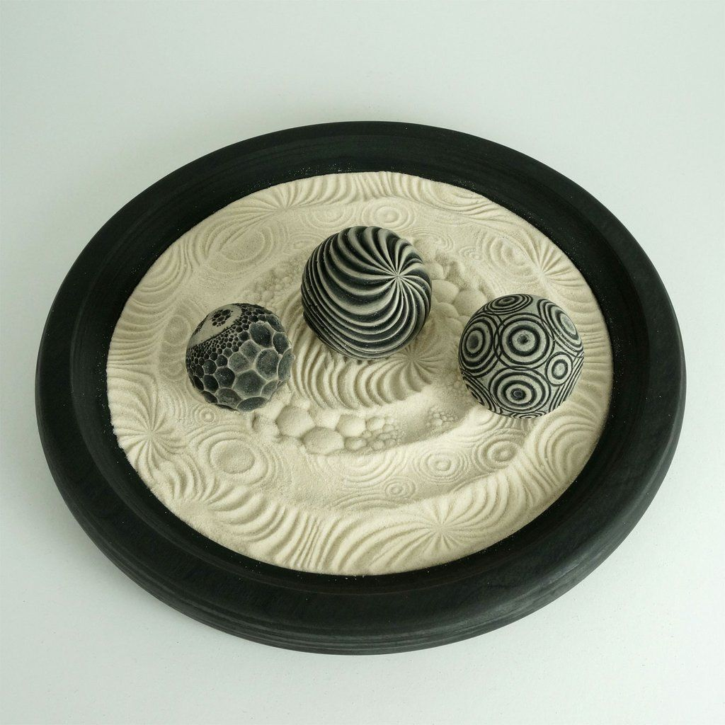 Office desk zen garden - Create Your Own Modern Zen Garden With This Trio Of Nature Themed Spheres It S Small Enough To Fit On The Tabletop Or Office Desktop But Big Enough To Fit