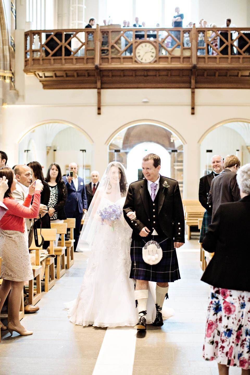 Real bride emily june scenest andrewus cathedral glasgow