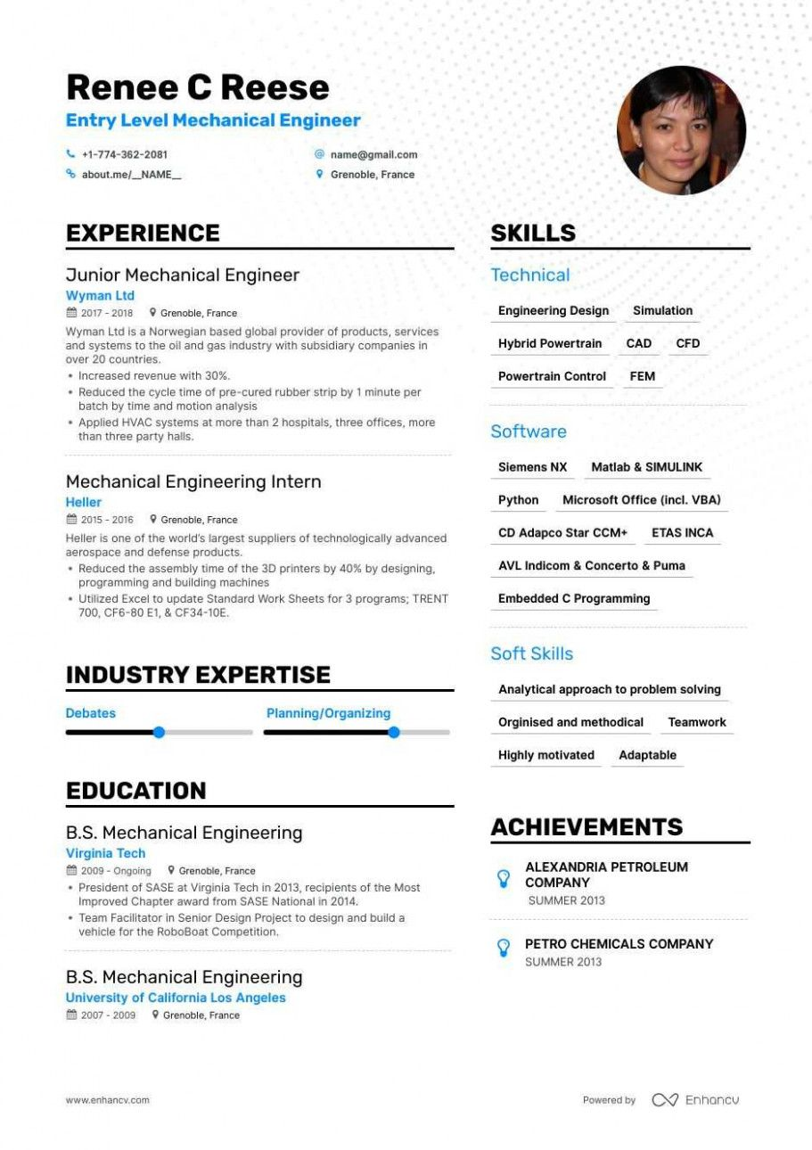10 Junior Mechanical Engineer Resume
