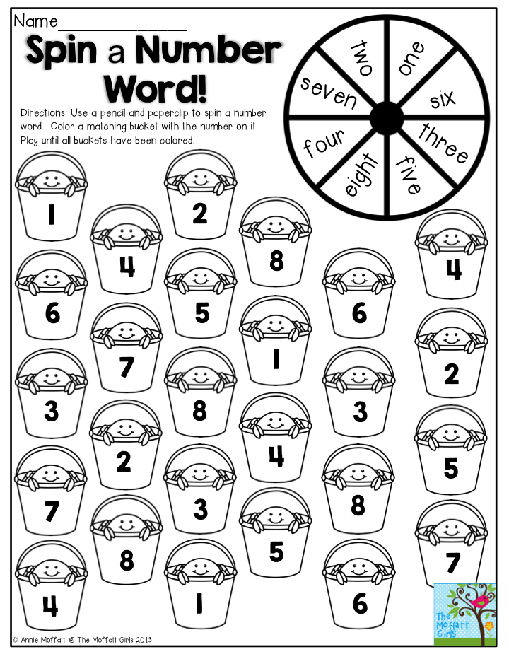 Spin a Number Word! Such a fun activity to keep students
