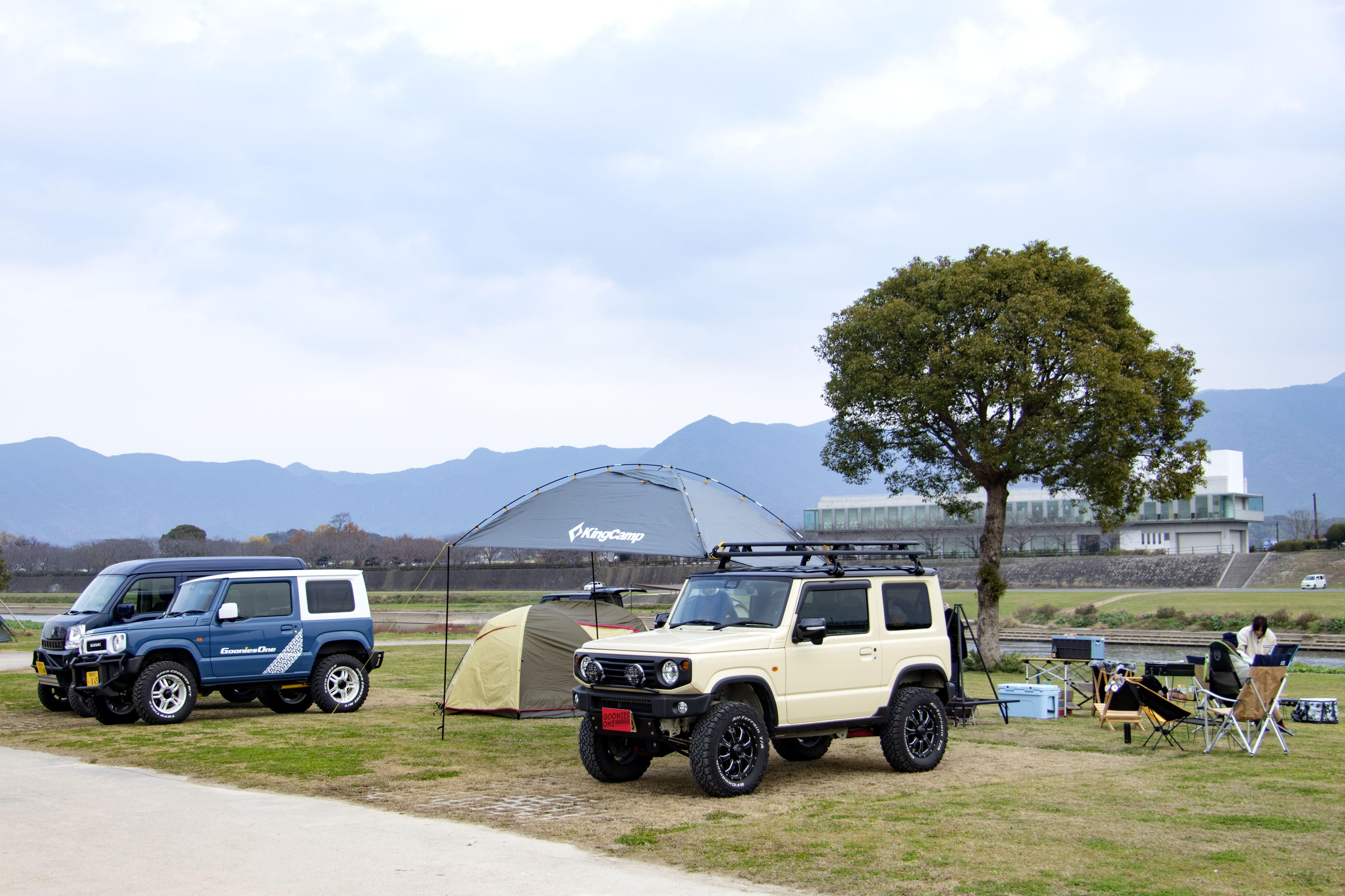 カスタムカーでキャンプ ジムニー キャンプ 新型ジムニー キャンプ