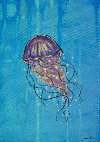 Float like a Jellyfish Art Print