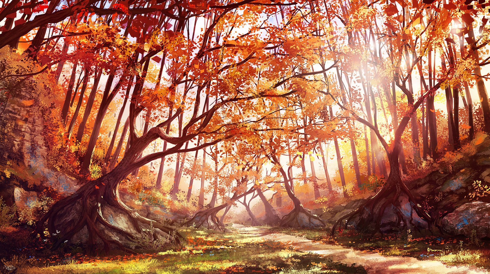 Kings Fall Wallpaper Autumn Forest By Renaud Perochon Gt Glorious Digital