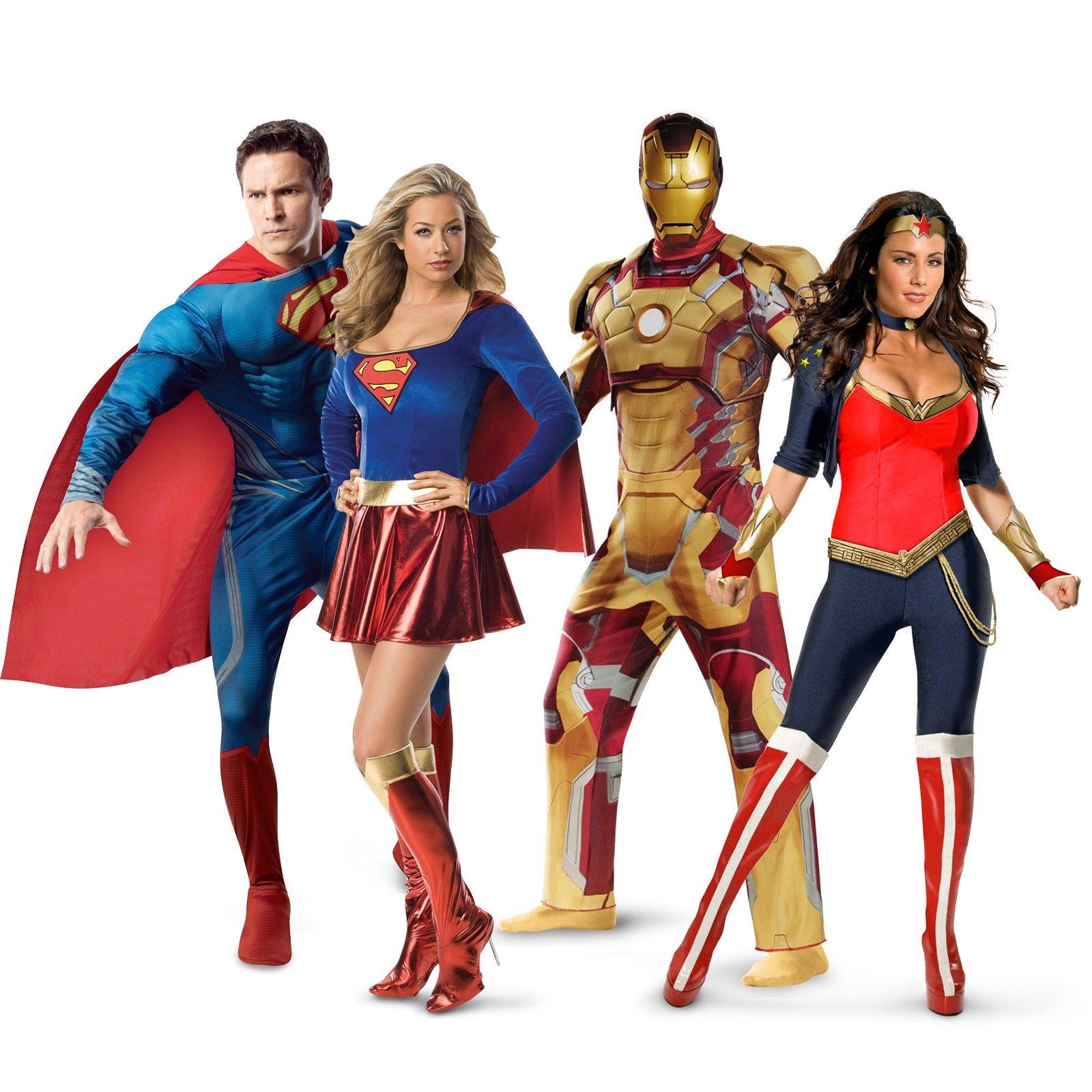 Superheroes Heroinas Disfraces Superman Supergirl Ironman Wonder Woman Jpg 1600 1600 Ideas De Disfraces De Parejas Trajes De Super Heroes Disfraz De Superman