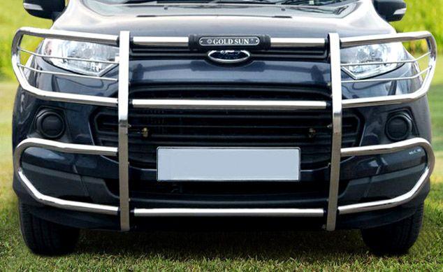 Goldsun Design Evolve Abs Front Guard Black For Ford Eco Sports 1 Ford Ecosport Safari Design Car Accessories