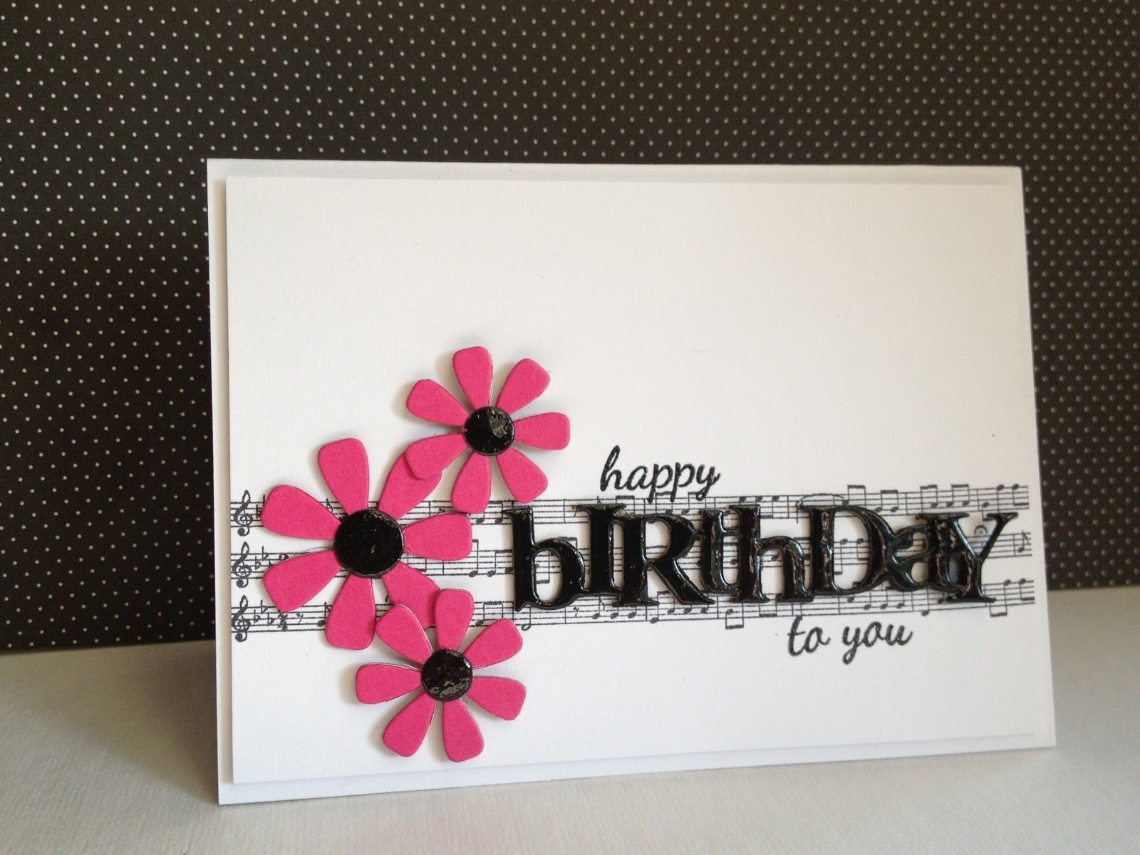 Cute Happy Birthday Card With The Stampin Up Music Notes Wheel