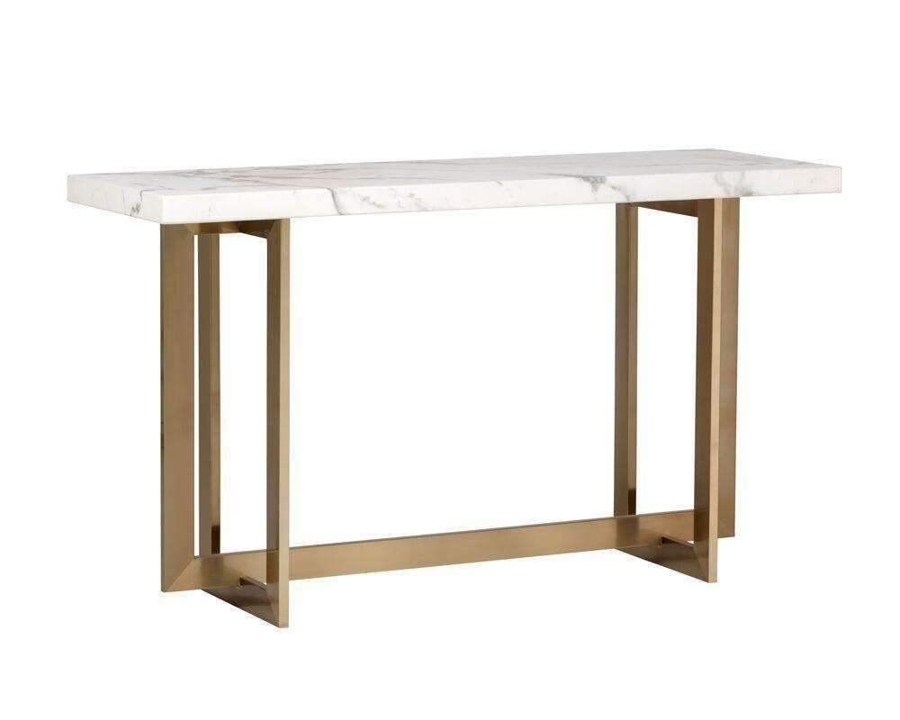 Rosellen Console Table Antique Brass Marble Lookdefault Title In 2020 Console Table Marble Top Console Table Modern Console Tables