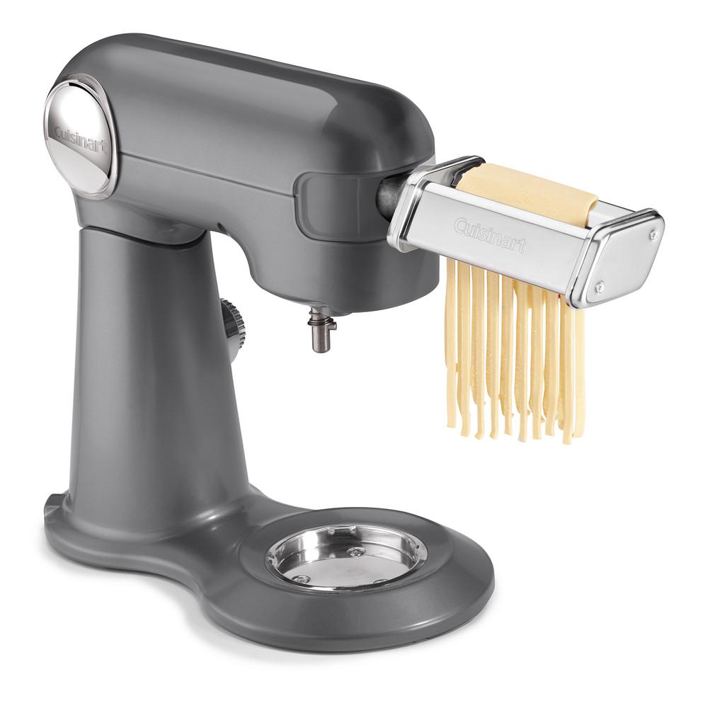 Pasta Roller And Cutter Attachment For 5 5 Qt Stand Mixer Sliver Silver Pasta Roller Pasta Extruder Cuisinart