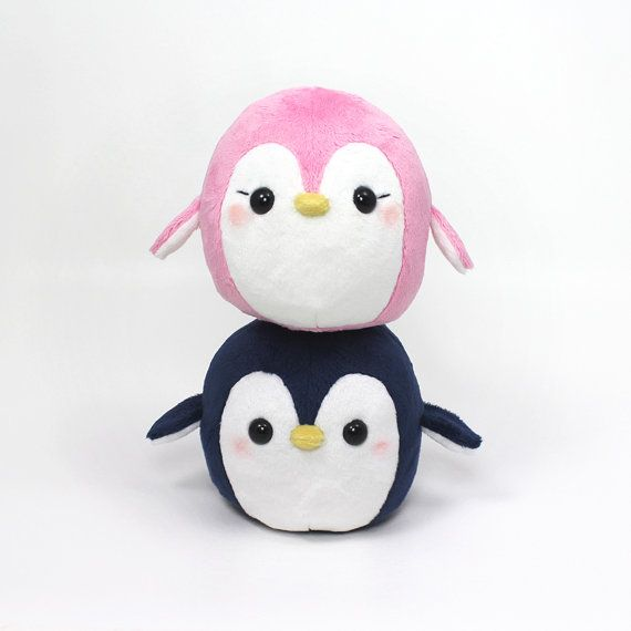 PDF sewing pattern - Penguin stuffed animal - easy kawaii cute anime ...