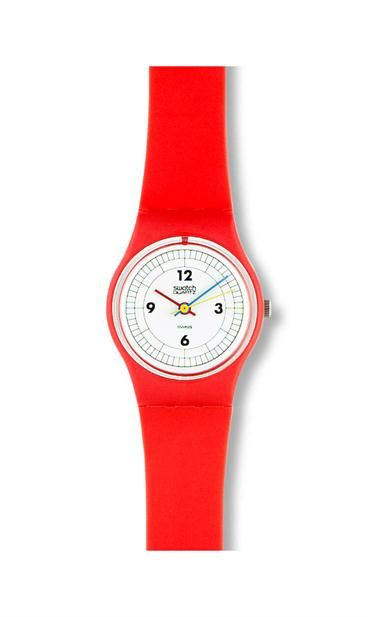 RED 12-3-6-9 ❥ Swatch Watch ❥