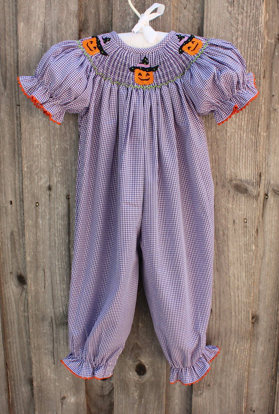 Smocked Halloween Romper From Smocked Auctions Can T Wait