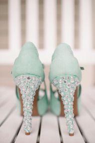 ebadbb2b39676b Mint green bridal shoes