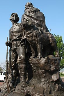 Statue Of York And Seaman On Quality Hill In Kansas City Mo Newfoundland Dog Newfoundland Seaman