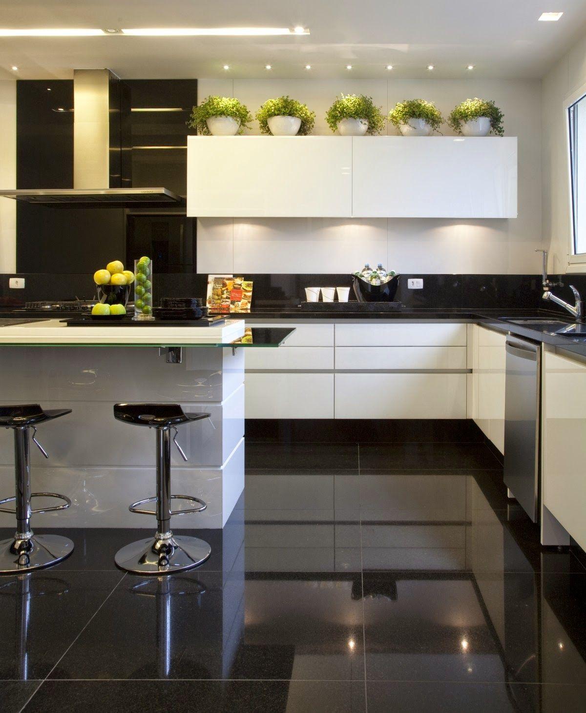 Apartamento Moderno Com Decoração Preto Branco Maravilhoso