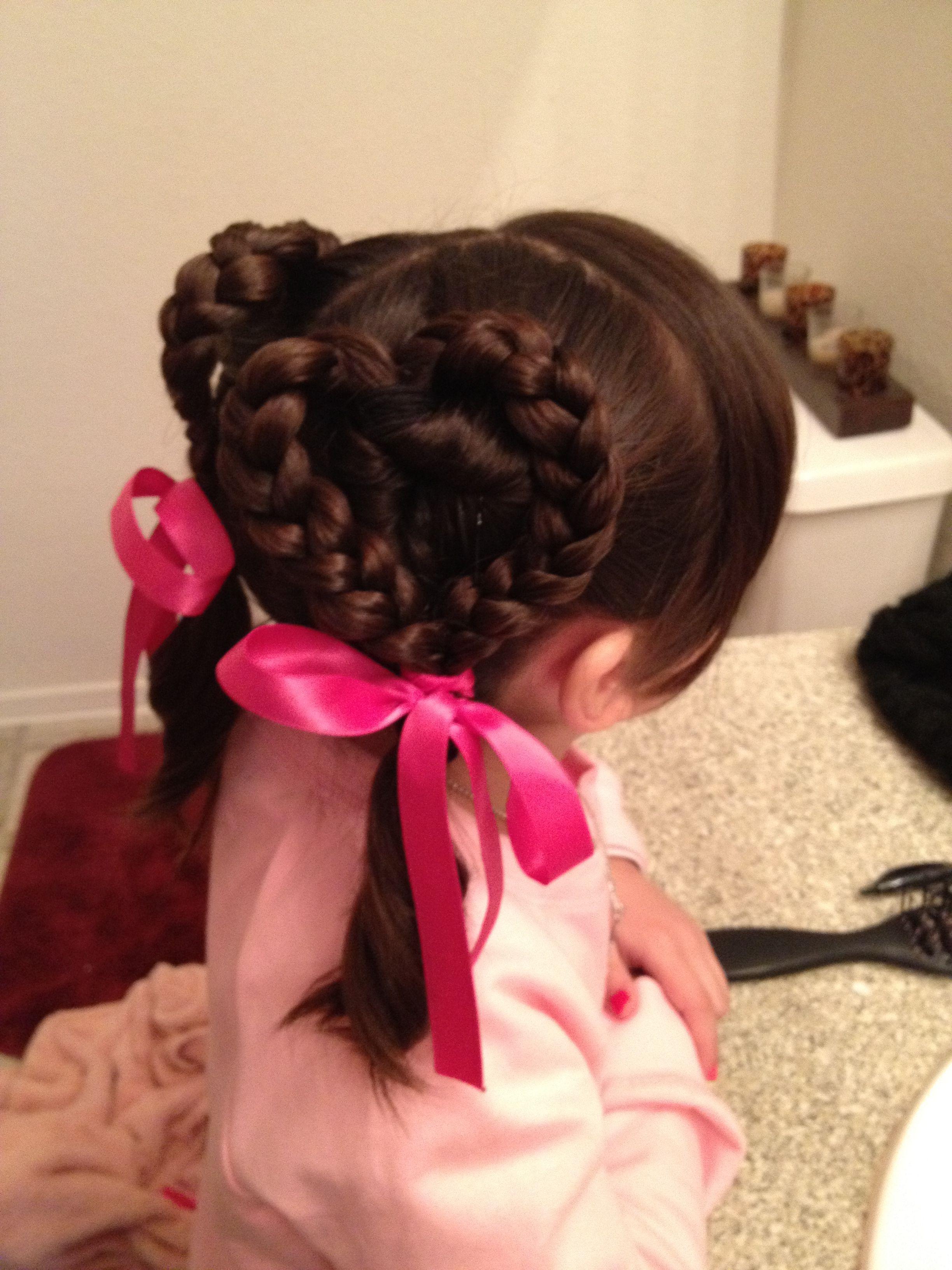 Hearts hairstyle | Girls hairdos, Hair designs, Heart hair