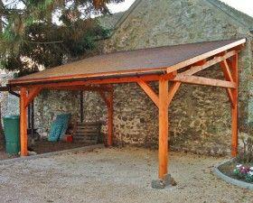 Garage Bois Anjou 1 Pente 2 70 M X 7 M Gamme Cerisier Avec Images Abris Voiture Bois Abri Voiture Abri Bois