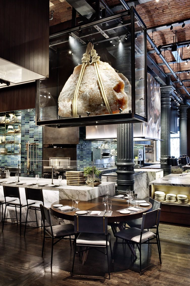 Restaurant kitchen design  A rotating selection of guest chefs take up residence at the most