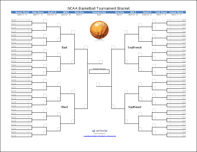 March Madness Bracket Template from i.pinimg.com