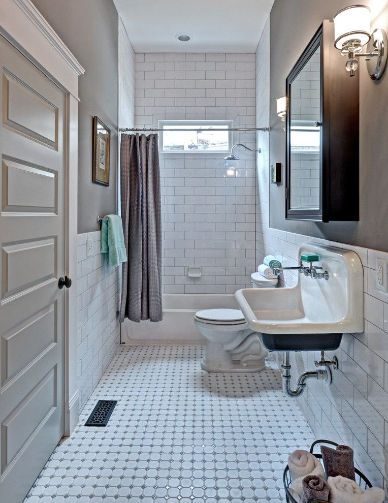 Lowes Ceramic Tile Bathroom Traditional with 3x6 Subway Tile Atlanta ...