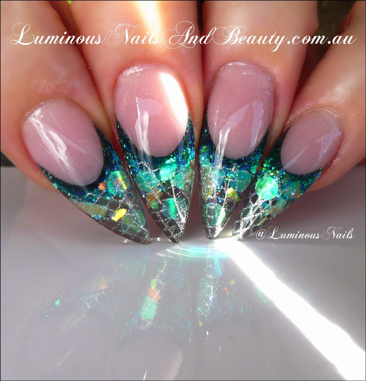 Mermaid Nail Art Acrylic Nails: Luminous Nails: Mermaids Tale Nails... Inspired By Greg