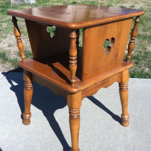 Ethan Allen Heirloom Maple Clover Side Table