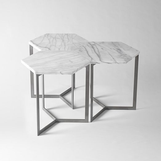 West Elm Hex Side Table Google Search Calle Furniture - Hex coffee table