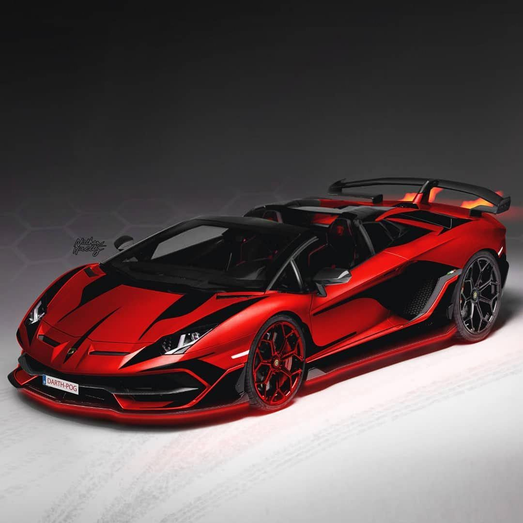 Aventador SVJ Roadster Black Red DevilWrap
