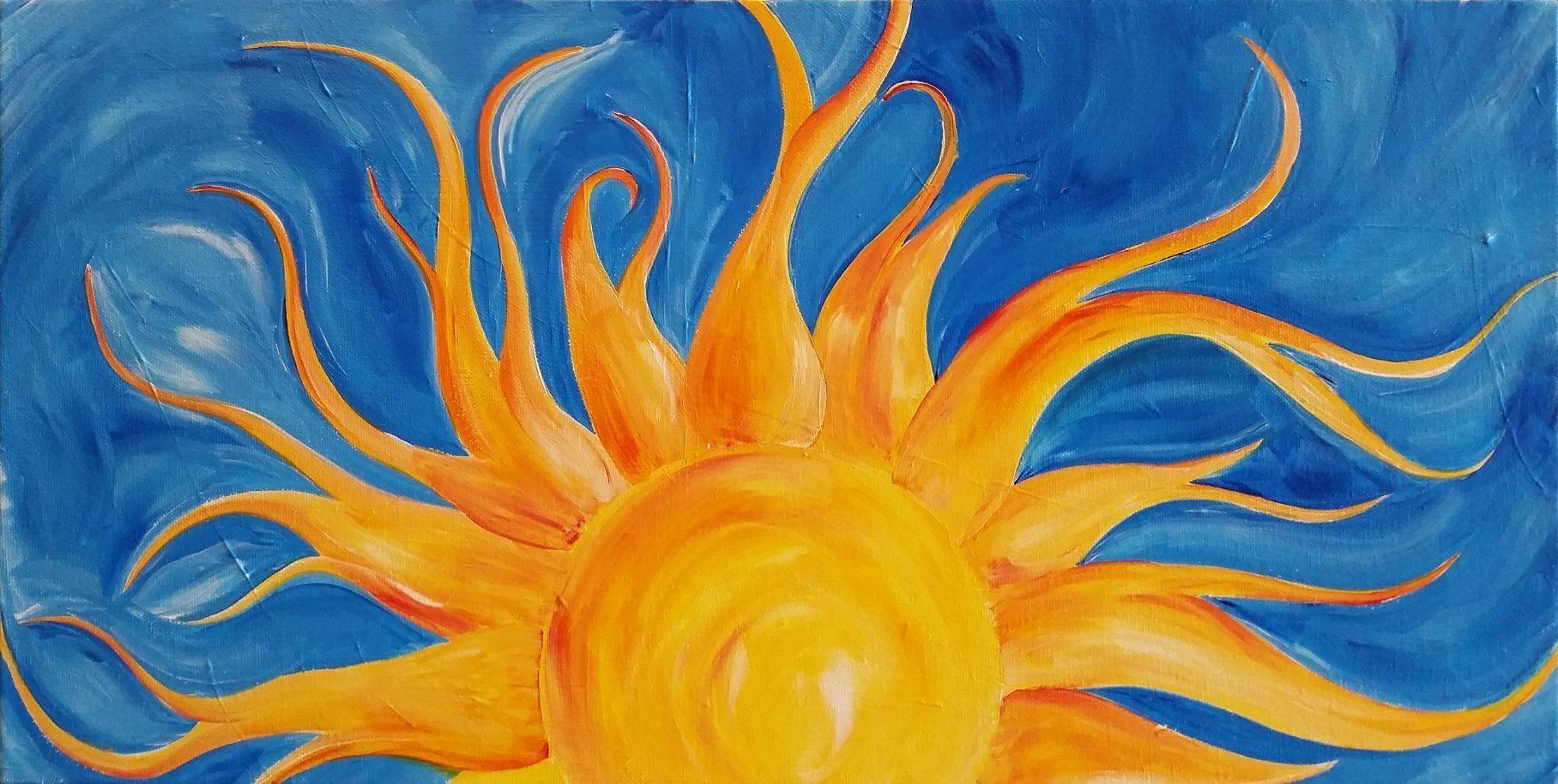 Lovespringart Sunshine Step By Step Acrylic Painting On Canvas For
