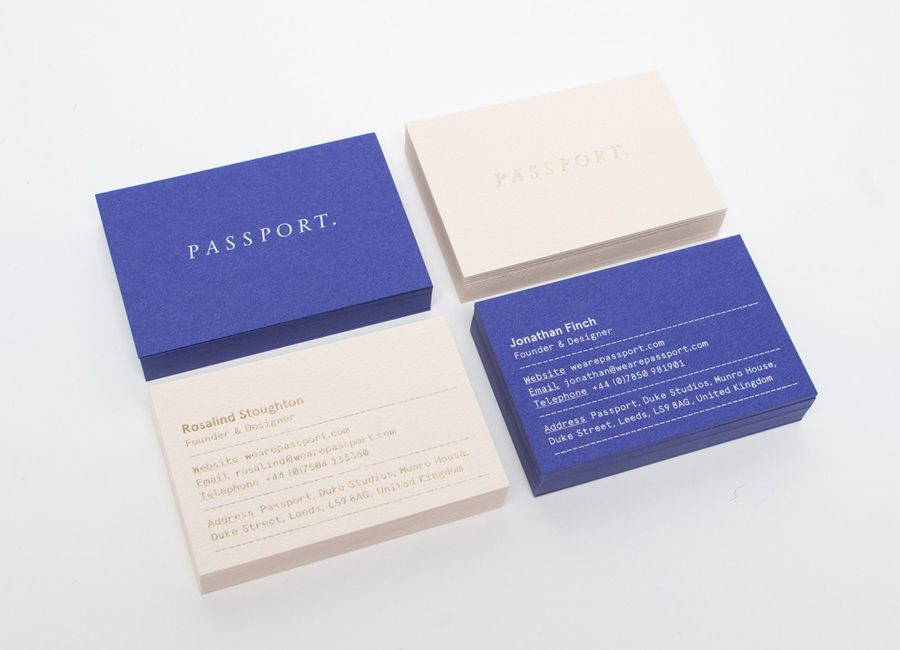 New brand identity for passport bpo leeds business cards and colorplan business cards with gold foil detail for leeds based design studio passport reheart Image collections