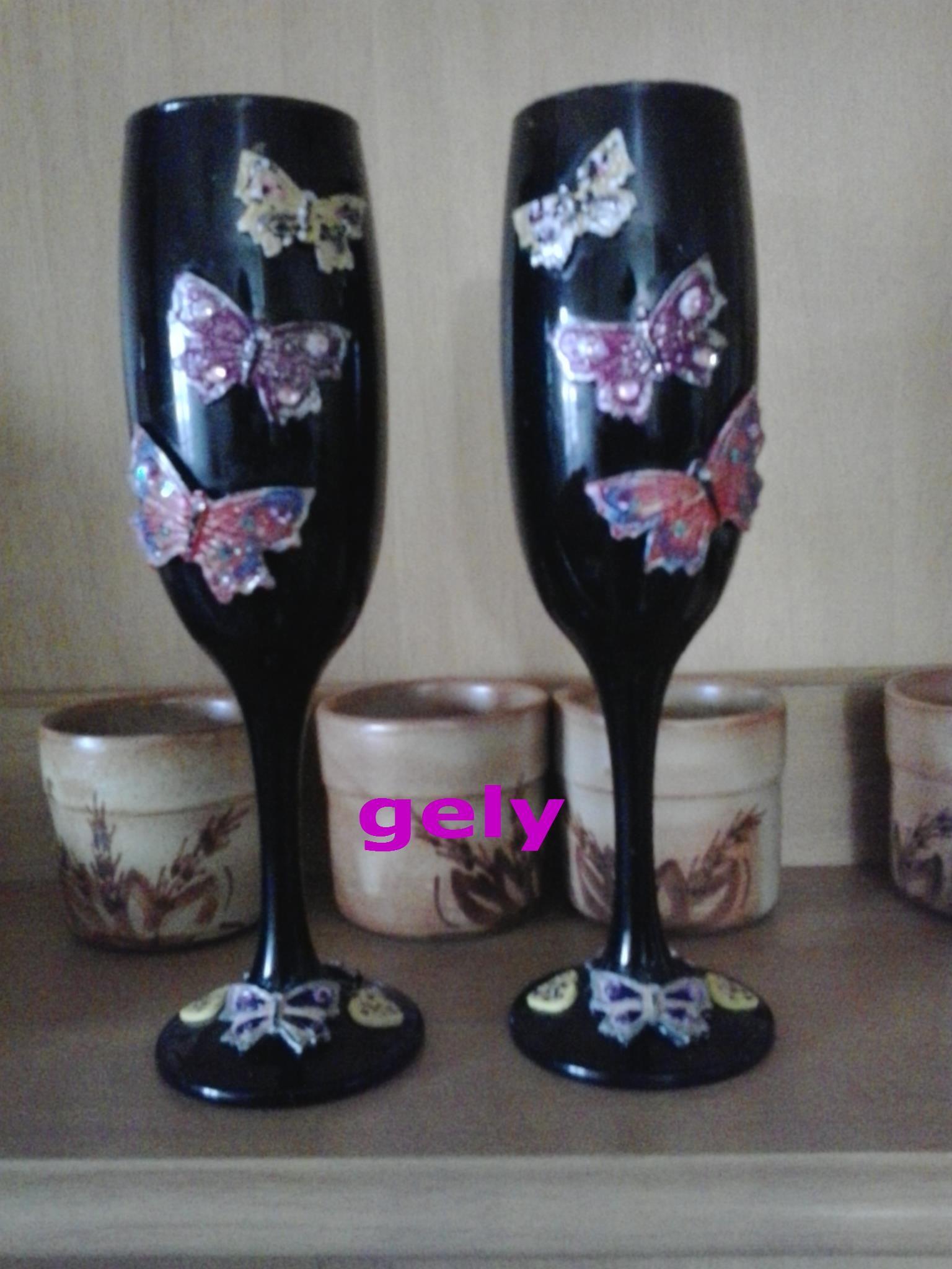 copas decoradas a mano