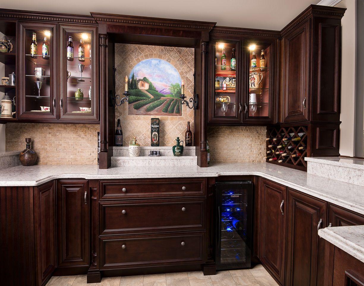 Oxford Merlot Glaze   Stock kitchen cabinets, Custom ...