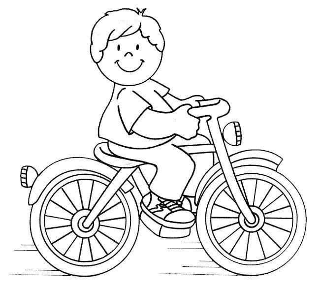 kleurplaat fietser thema verkeer coloring