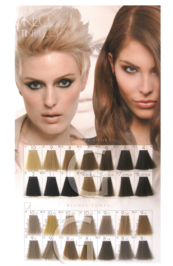 keune tinta color brown shades - Keune Color Swatch Book