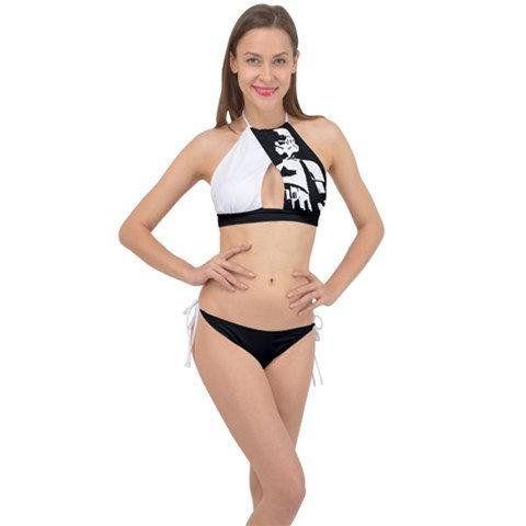 1bd4546eaf1 Black & White Stormtrooper Cross Front Bikini - 2 Piece Swimsuit - Star Wars  Inspired - Sexy Geek Fashion - Star Wars Swimwear for Women