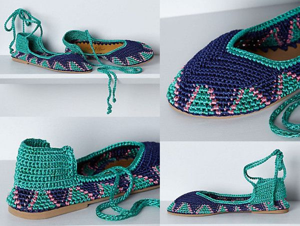 Painted Bird Tidal Pool Ankle-Wrap Flats_blue_green