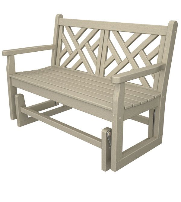 Marvelous Maintenance Free Garden Bench Part - 7: Recycled Plastic Outdoor Glider Bench   Polywood Maintenance Free Garden  Furniture   American Made