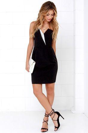Stunning is Standard Black Strapless Dress at Lulus.com!
