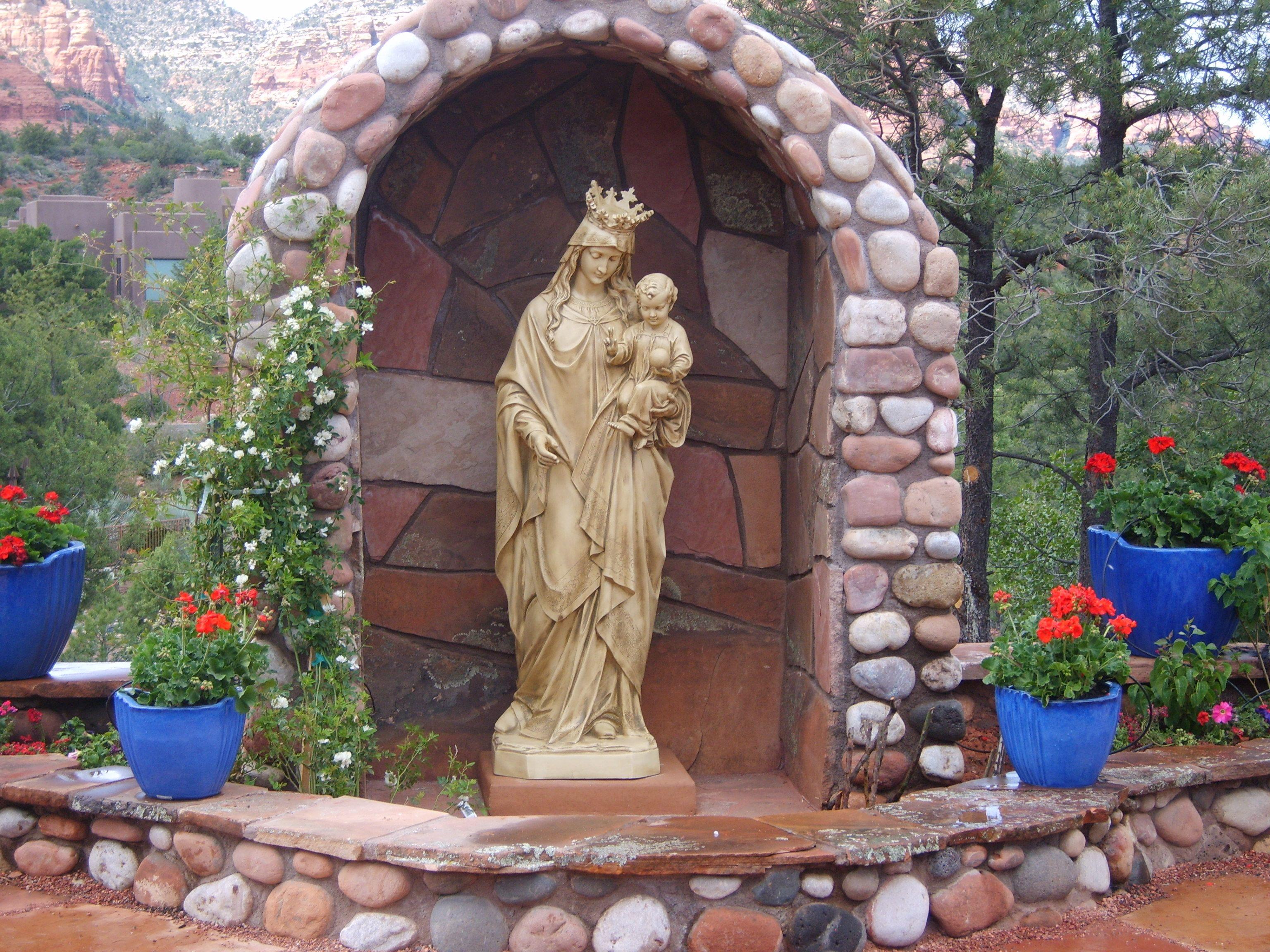 St John Vianney Sedona AZ Holy Mother Mary Garden Pinterest