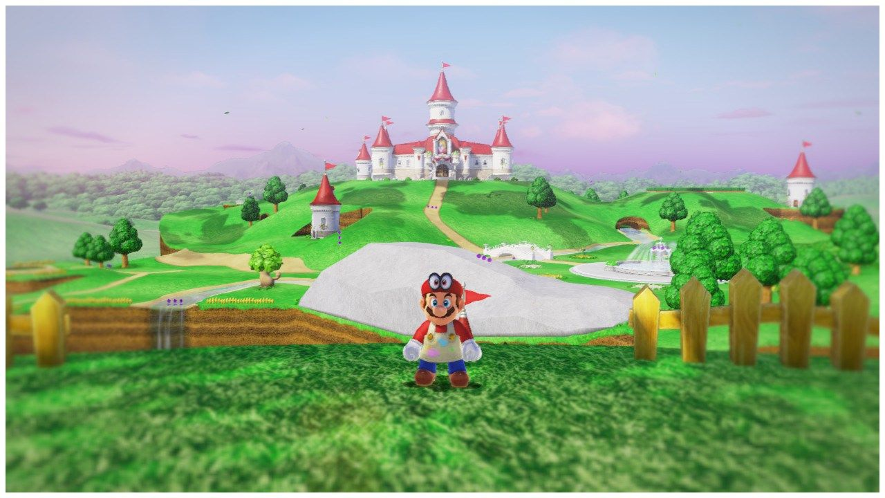 Super Mario Odyssey The View From Yoshi Island Looking At The